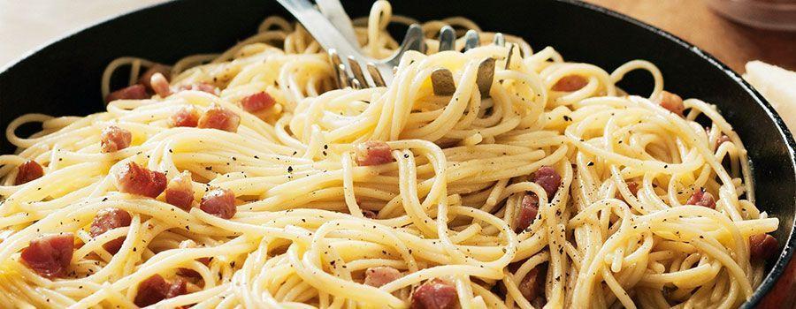 Receta de los espaguetis a la carbonara