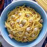 Receta Espaguetis Carbonara a la marinera